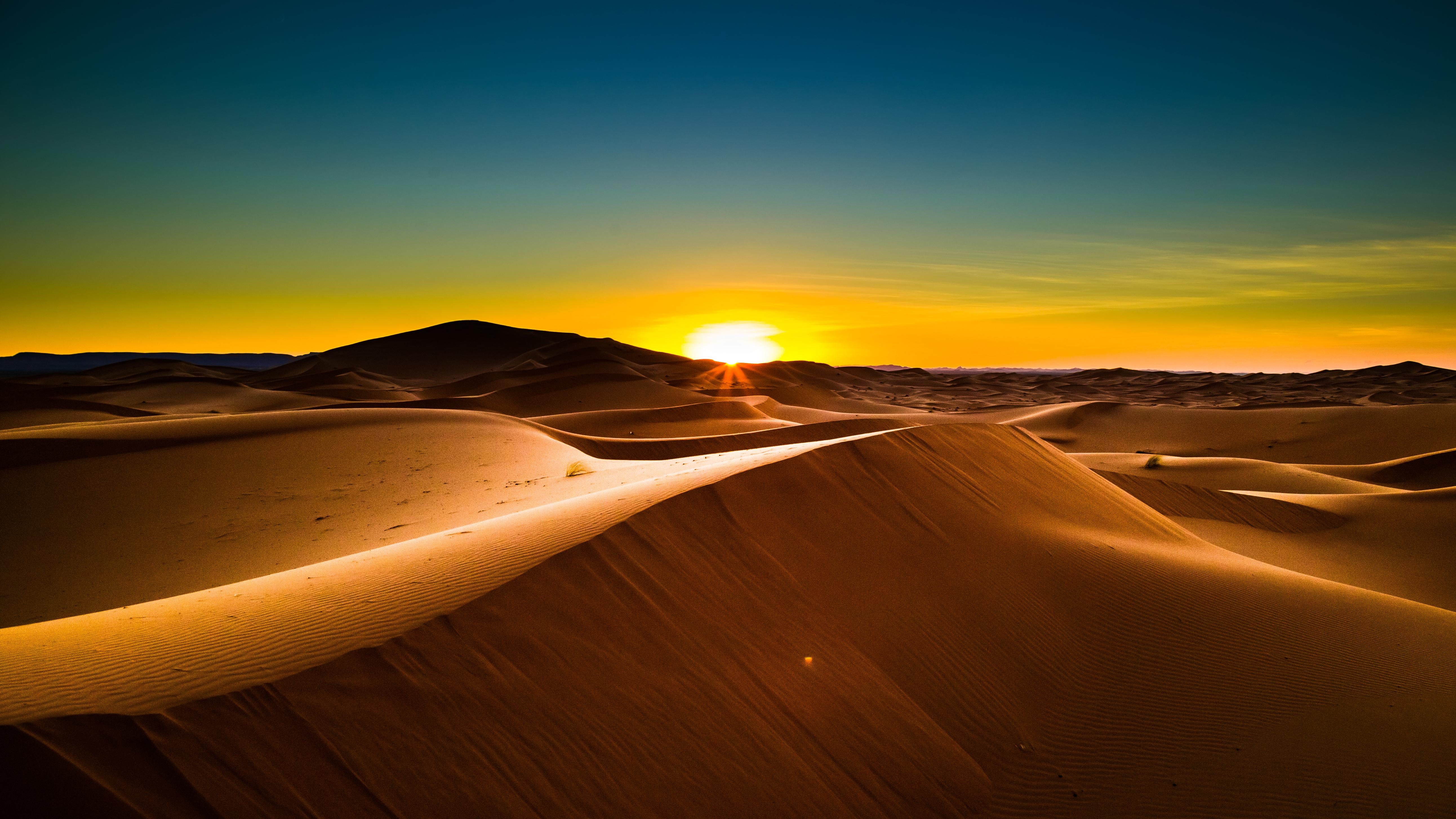 70-Posta de sol al desert del Sahara (Natura)